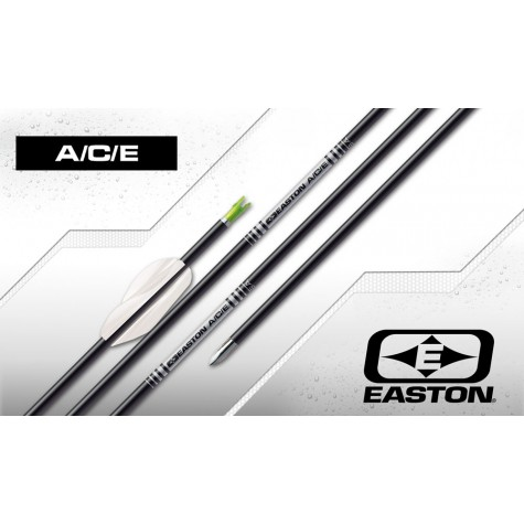 Easton ACE Arrows with EN53 G nocks & EP51+EP52 Points (set of 12) : ES51Carbon ArrowsES51 3FL 12 E